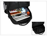 Городские Рюкзак-USB с барсетка 3в1 Туристический спортивный рюкзак и портфели школьные Для мужчин и женщин, фото 9