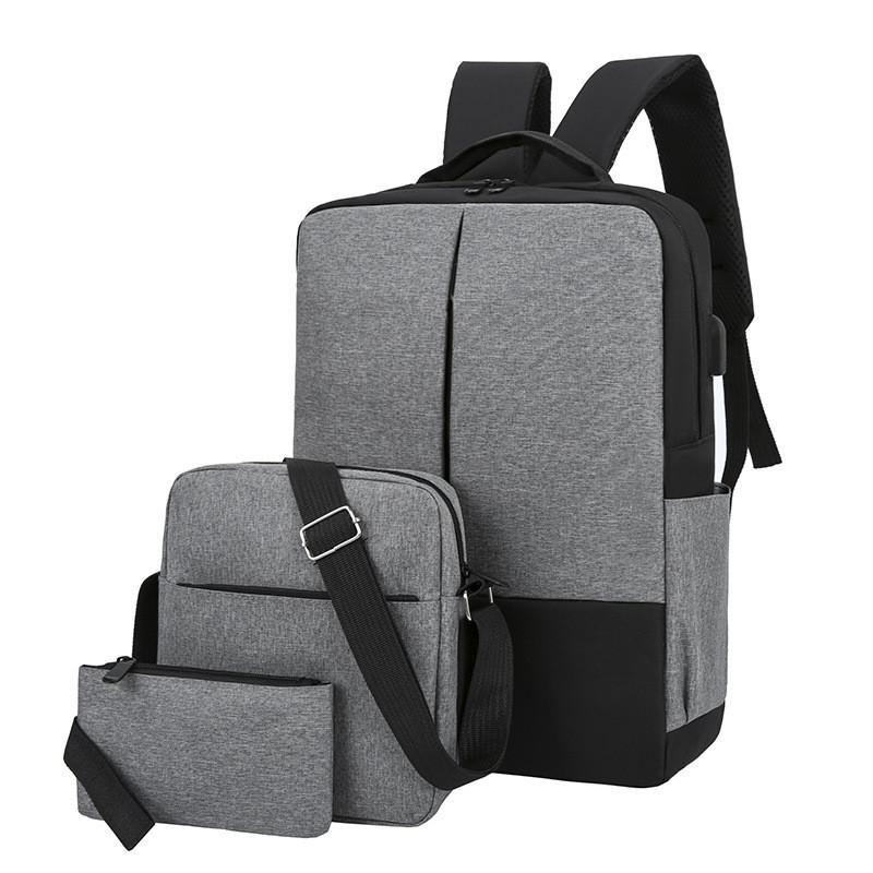 Городские Рюкзак-USB с барсетка 3в1 Туристический спортивный рюкзак и портфели школьные Для мужчин и женщин