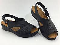 Женские широкие кожаные Турецкие босоножки мягкая кожа без швов, фото 1