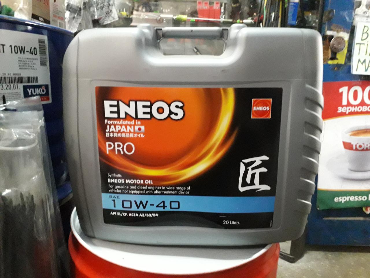 Синтетическое моторное масло ENEOS Premium 10W-40, 20л