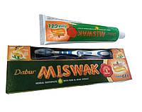 Зубная паста Dabur Miswak Fresh Gel с экстрактом мисвака (зубная щётка в подарок) 150гр