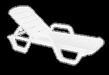 Шезлонг лежак Papatya Avangarde 190x65х43 cм Белый