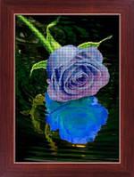 Набор для рисования камнями (холст) 5D Голубая роза LasKo