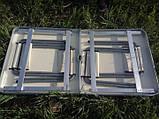 Туристичний розкладний стіл для пікніка зі стільцями туристичний набір у валізі посилений складаний стіл і, фото 4
