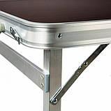 Туристичний розкладний стіл для пікніка зі стільцями туристичний набір у валізі посилений складаний стіл і, фото 7