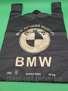 Пакет майка BMW LD черный 50шт, фото 2