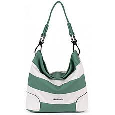 Сумка жіноча №KP2239P Білий з зеленим