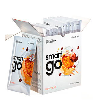 Замінник збалансоване харчування для схуднення Smart ED GO АЙРІШ 7 пакетів коктейль смарт гоу з молоком