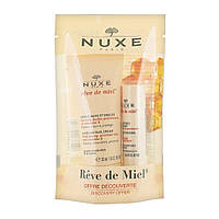 Набор Крем для рук и ногтей 30 мл + Увлажняющая губная помада 4 г Nuxe Dream of Honey Discovery Нюкс Медовая м