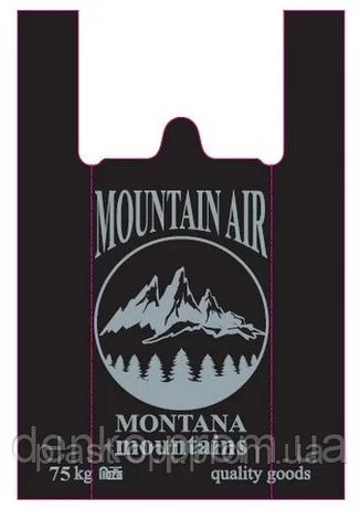 Пакет майка Монтана 45*75 75кг чорний 100шт, фото 2