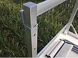 Туристичний розкладний стіл для пікніка ПОСИЛЕНИЙ алюмінієвий набір стіл і стільці валізу для кемпінгу, фото 4