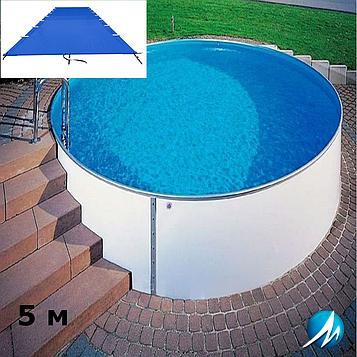 Поливиниловое накрытие для сборного круглого бассейна 5 м