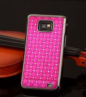 Чехол розовый c камнями на Samsung GalaxyS2 (i9100)