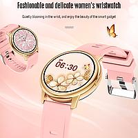 Умные смарт часы Smart Watch Lemfo LF28M Gold. С Тонометром Пульоксиметром Android iOS Женский календарь