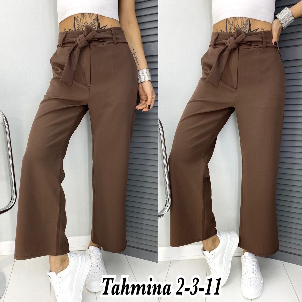 Жіночі брюки, костюмка класу люкс, р-р 42-44; 44-46 (мокко)
