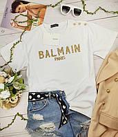 Модная женская футболка Balmain (Балман)