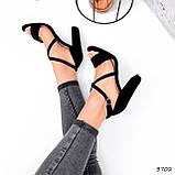 Женские босоножки на каблуке 10 см с переплетом, фото 2