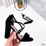 Женские босоножки на каблуке 10 см с переплетом, фото 3