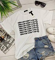 Белая женская футболка Alexander Wang (Александр Ванг)