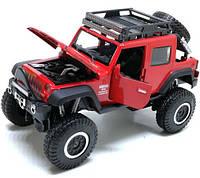 Машинка Металлическая Jeep Wrangler Rubicon, фото 1
