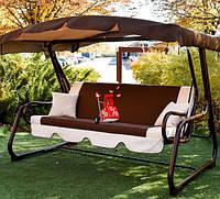 Садовые подвесные раскладные трехместные качели Лацио 170 для отдыха, качели для дачи для сада, диван-качели