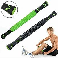 Роликовий масажер для м'язів всього тіла Muscle stick. Ручний масажер., фото 1