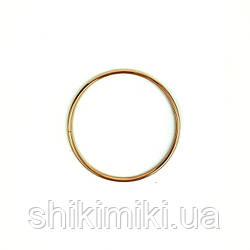 Кольцо металлическое для макраме, 8 см, цвет золото