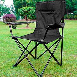 Складное кресло с системой Паук  Prostore Pro, для рыбалки, кемпинга, походов, со спинкой и подстаканником