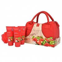 Grace Cole Набор для тела Strawberry Bliss (гель для душа+лосьон для тела+пена для ванны+мочалка+сумка)