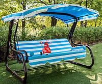 Садовые подвесные раскладные трехместные качели Валле 170 для отдыха, качели для дачи для сада, диван-качели