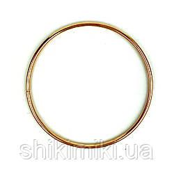 Кольцо металлическое для макраме, 16 см, цвет золото