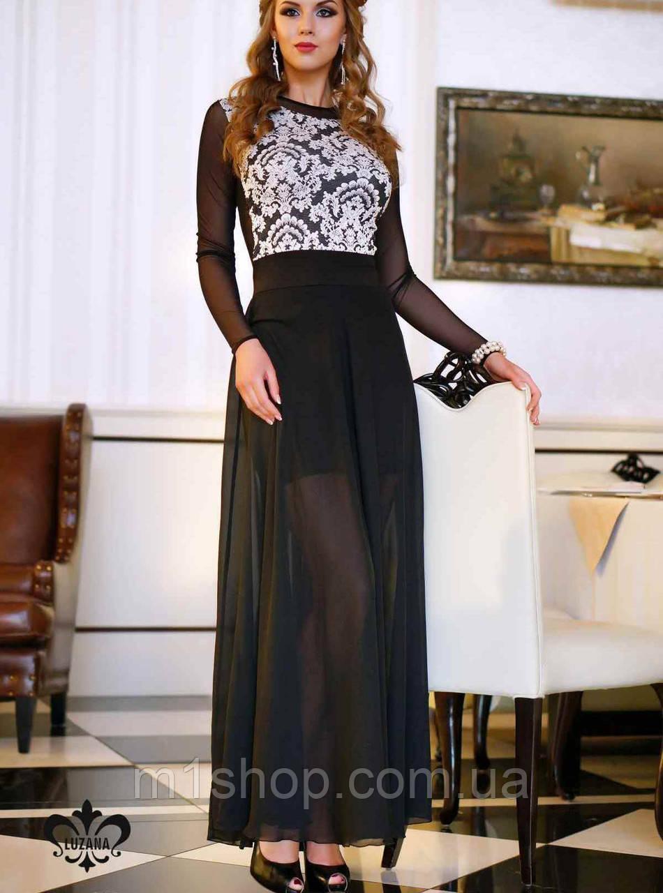 Платье с шифоном | Клери lzn