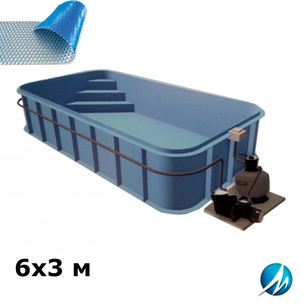 Солярное накрытие для полипропиленового бассейна 6х3 м