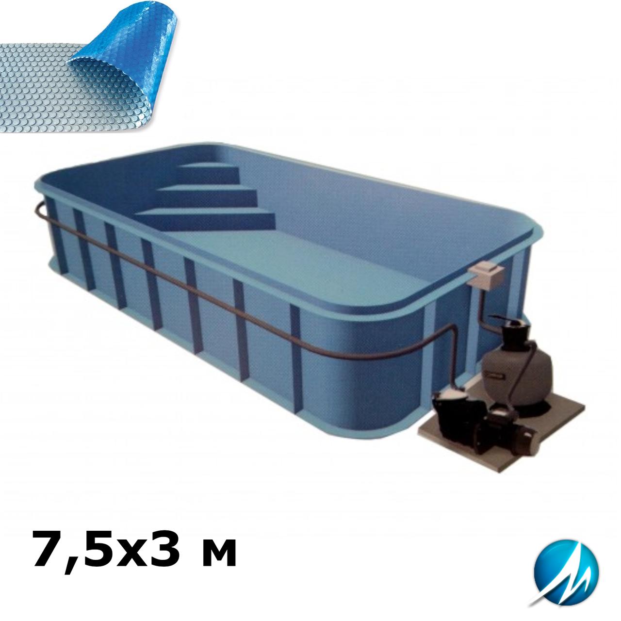 Солярное накрытие для полипропиленового бассейна 7,5х3 м