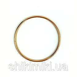 Кольцо металлическое для макраме, 13 см, цвет золото