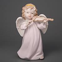 """Фарфоровые ангелочки """"Ангел со скрипкой 17 см подарки для девушки"""