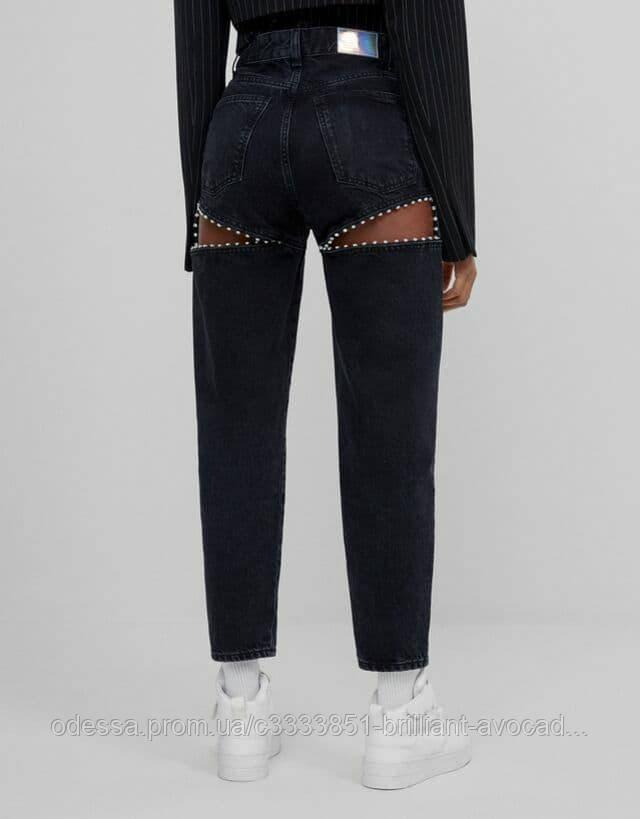 Тренд 2021 женские джинсы с вырезами на бедрах