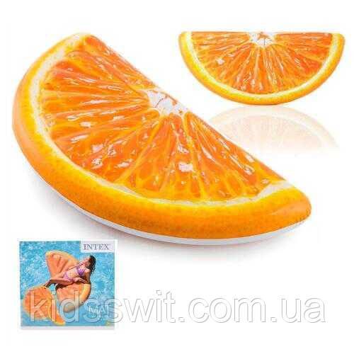 """Intex Матрац 58763 EU """"Апельсин"""" помаранчевий, 178 х 85 см, від 12-ти років"""