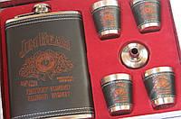 Подарочный набор фляга со стопками Jim Beam black-red