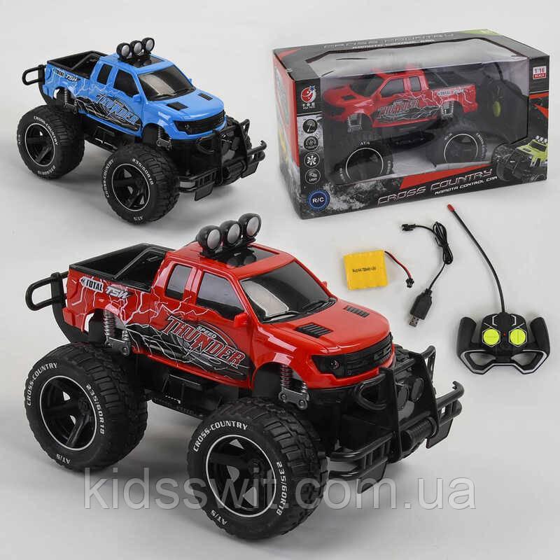 Джип р / у KQX - 701 A, 2 кольори, акумулятор 4.8 V, управління 2.7 Hz, світло