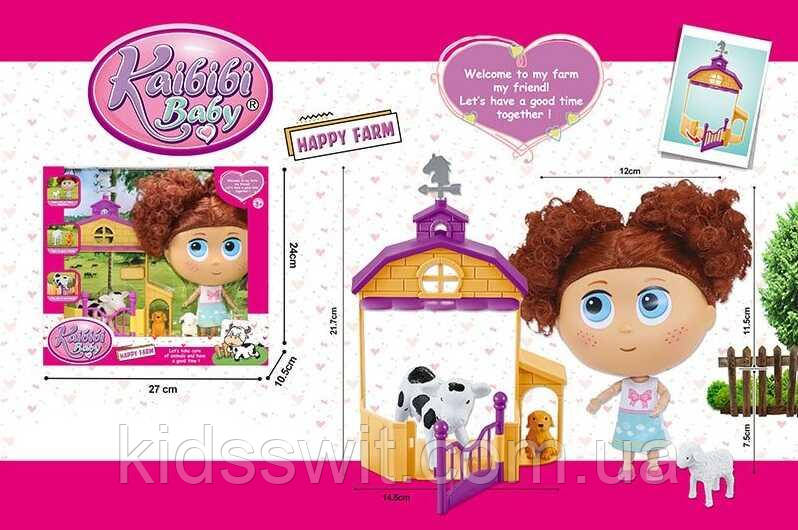 Кукла BLD 294, 3 питомца, загон, в коробке