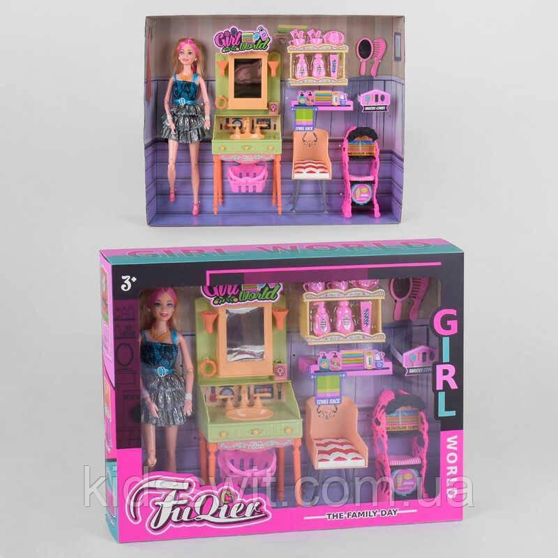 "Кукла JX 300-36  ""Ванная комната"", мебель, аксессуары, в коробке"