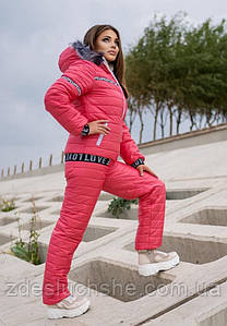 Женский лыжный костюм на меху батал SKL11-279624