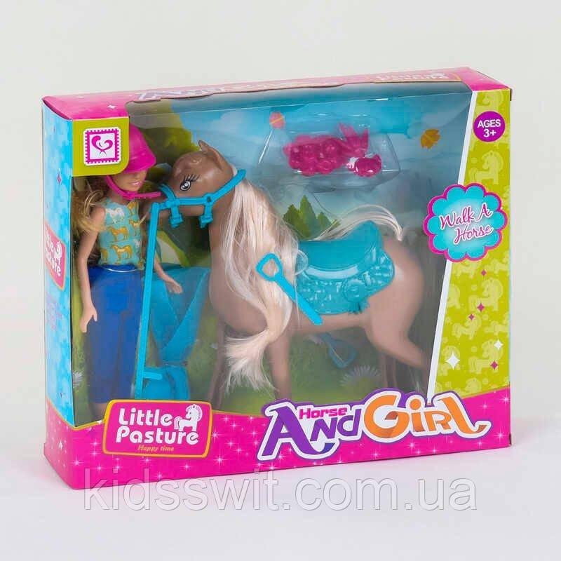 """Кукла К 899-58  """"Наездница"""", лошадь, аксессуары, в коробке"""