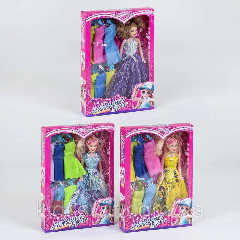 Лялька з нарядами 9322 А, 3 види, в коробці