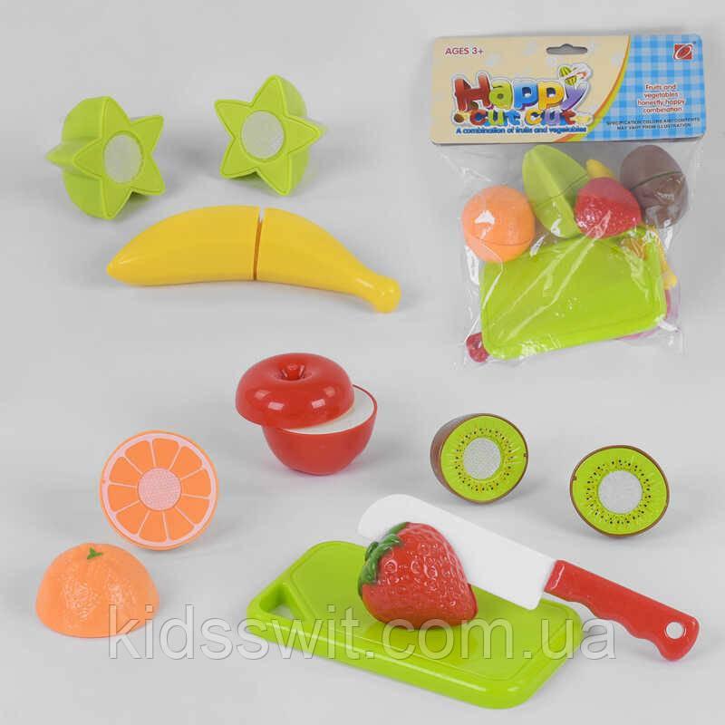 Набор продуктов 666-17 фрукты на липучках, в кульке