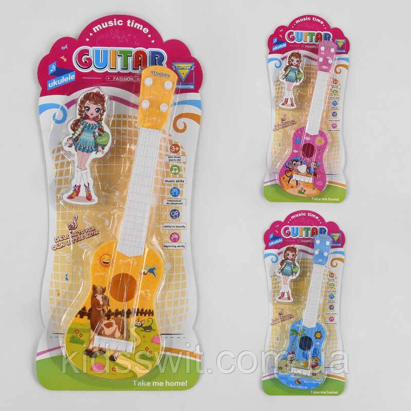Гітара дитяча акустична 890 B-16, 3 види, на аркуші
