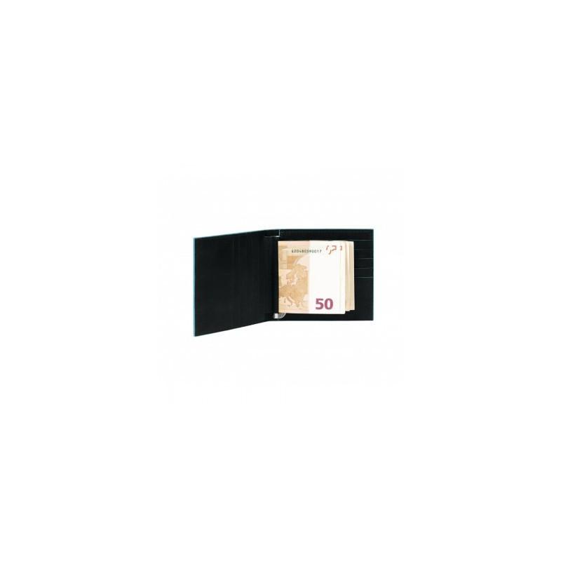Портмоне-картхолдер с зажимом для денег Италия черное 10,2*9,4*1,5 см. 2201069