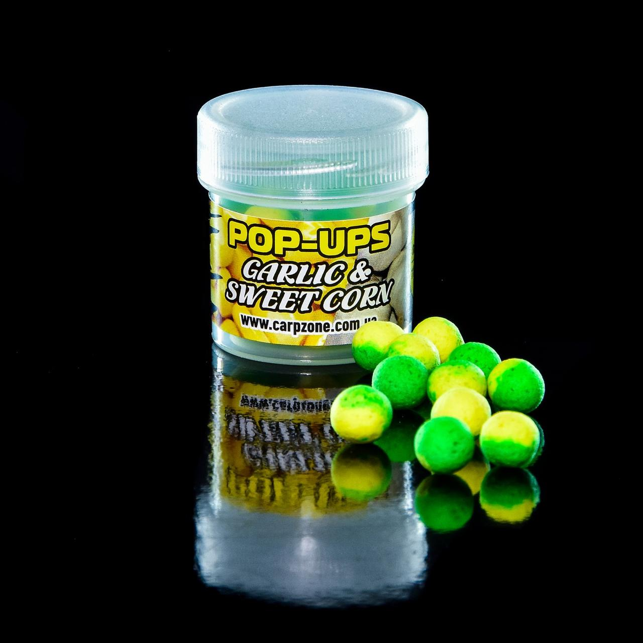 Поп Ап CarpZone Pop-Ups Method & Feeder Garlic & Sweet Corn (Чеснок и Сахарная Kукуруза) 8mm/30pc