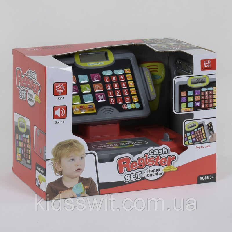 Кассовый аппарат 35558 B свет, звук, микрофон, сканер, с аксессуарами